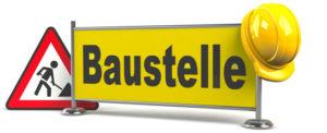 under construction baustelle